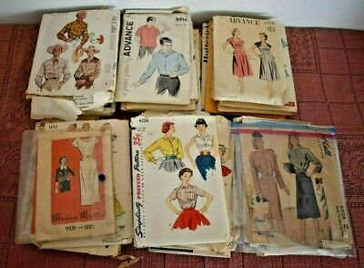 44 VINTAGE 1940's / 50'S SEWING PATTERNS Simplicity McCalls Butterick Advance