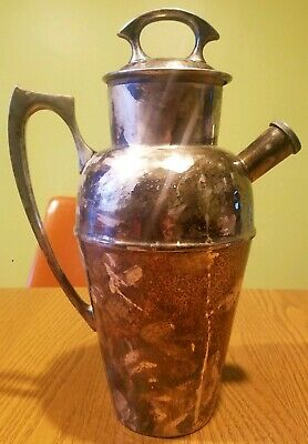 Antique 1908 Derby S.P. Co. Silverplate Cocktail Shaker Pitcher Arts & Craft