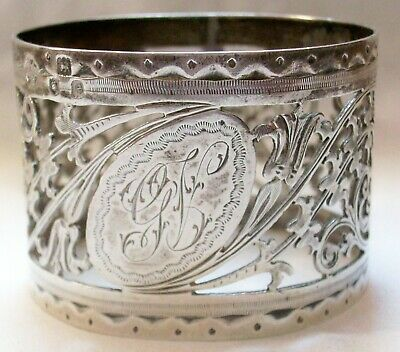 Fine Vintage - Antique English Reticulated Sterling Silver Napkin Ring 24+ Grams