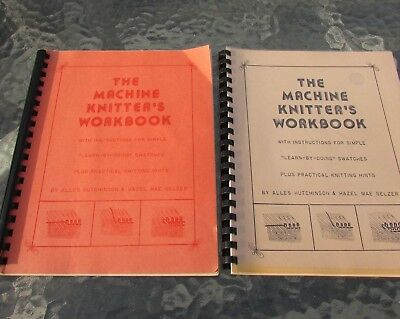 Machine Knitters Workbook Lot Learn By Swatches Techniques 1st ed 3rd ed 1970