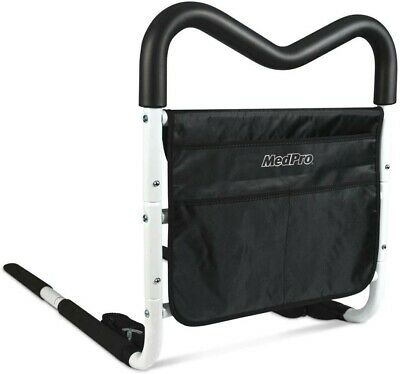Medpro Contoured Bedside Rail with grip and pouch