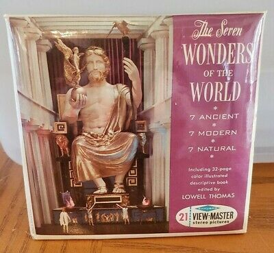 B901 The Seven Wonders of the World Ancient view-master Reels Packet Sealed