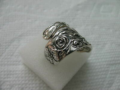 Reed & Barton Sterling Silver spoon RING s 8.5 FLORA 1890 Jewelry # 6675
