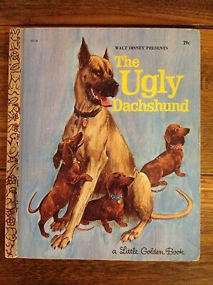 """Little Golden Book Disney The Ugly Dachshund """"A"""" First Edition 29¢ D118"""