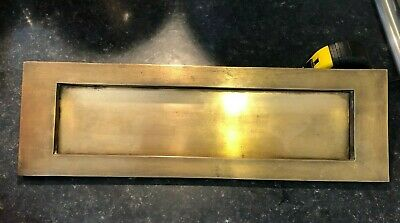 """Extra Large Antique Brass Letter Box Cover. 16"""" x 5"""""""