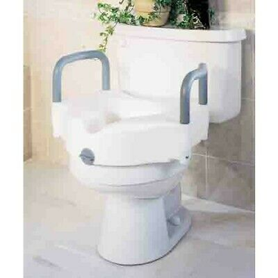 Amazing Medline Locking Raised Toilet Seat With Handles 1 Count Creativecarmelina Interior Chair Design Creativecarmelinacom