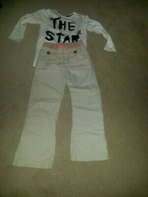 Girls trousers & ZARA Tshirt bundle (5-6years)