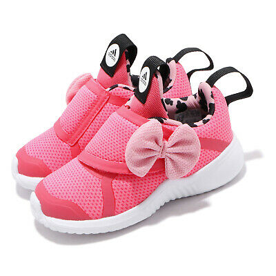 adidas FortaRun X Minnie I Pink Black Bow Baby Toddler Infants Girl Shoes G27186