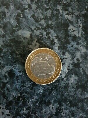 Vintage Car Rally £2 Two Pound Coin Isle Of Man Tt