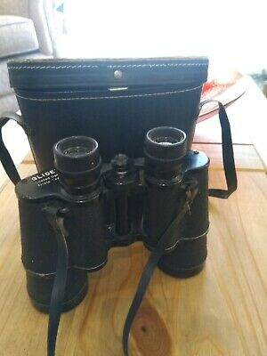 A Vintage Pair Of Glider 12x50 Binoculars With Case