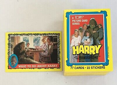 Harry & The Hendersons Vintage Complete Trading Card Set (77) - Topps 1987 M/NM