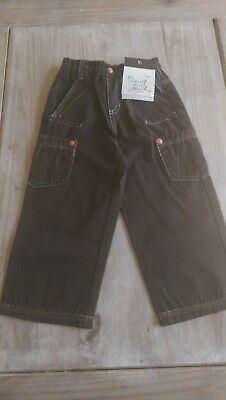 SAVE£25 New Deux par Deux designer Rrp£38.99 Olive brown boys 3yrs trousers BNWT