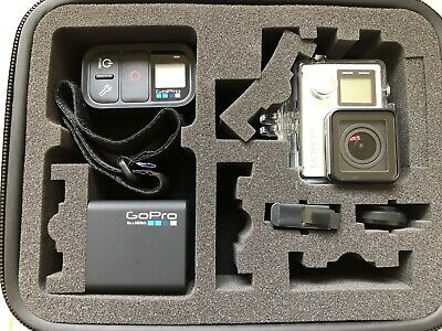 GoPro Hero 4 Silver In Case With Official Remote, Extra Battery & Dual Charger