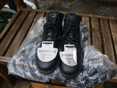 Safety Boots - Ppe - Hitec Boots Size 8 - With Steel Toecaps