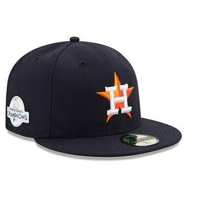 New Era Houston Astros Navy 2017 World Series Champions Side Patch Home 59FIFTY