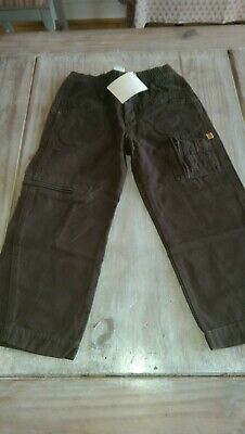 SAVE£35 New Miniman junior rrp£48.99 designer olive boys pockets jeans 4yrs BNWT