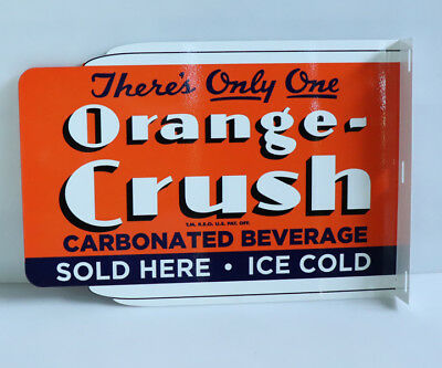 ORANGE CRUSH Sold Here! ICE COLD Soda Pop  Flange Sign     Modern Retro
