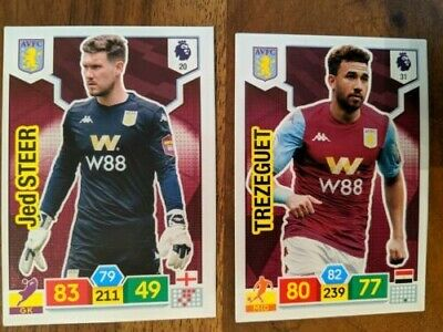 Aston Villa - Panini Adrenalyn XL Premier League 2019/20 (x2 Steer/Trezuget)