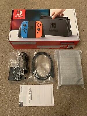 Official Nintendo Switch TV Dock, HDMI Cable, AC Adapter (UK) & Box - Brand New