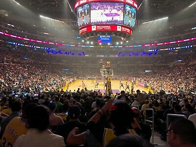 2 Lower Level Tickets Los Angeles Lakers vs Chicago Bulls 4/7