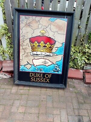 Vintage Hand Painted Pub Sign The Duke Of Sussex
