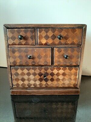 Apprentice sample piece mini chest of drawers cabinet Jewellery box