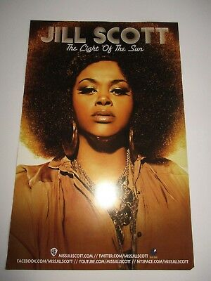 JILL SCOTT The Light Of The Sun Poster Rare Promotional Only 2 Sided 17 X 11 NEW