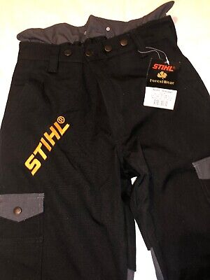 Stihl Brushcutter Trousers NEW Black/Grey Size 46- Part Number 7001 886 6546