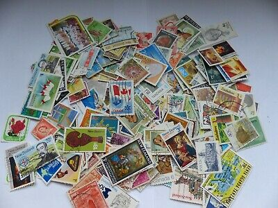 Postage stamps - British Commonwealth - approx 340 different stamps (Batch 2 C)