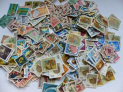 Postage stamps - British Commonwealth - > 500 multi dups - suit art project