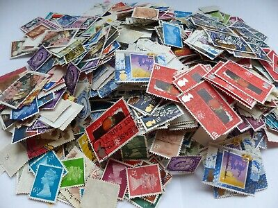 Great British stamps - hundreds of multi duplicates - suit art project