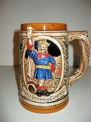Pabst Brewing Company King Gambrinus Beer Stein from 1984