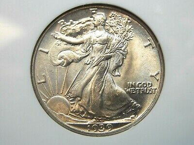 "1939 ""P"" Walking Liberty Half Dollar 50c NGC MS65 East Coast Coin & Collectables"