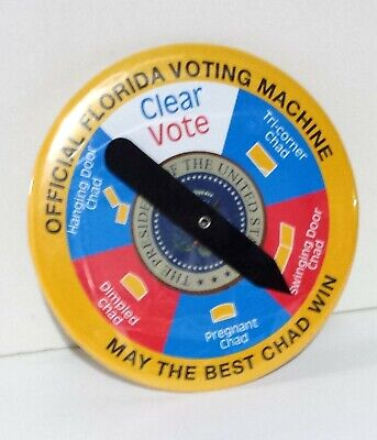 Official Florida Hanging Chad Decider Spin Button