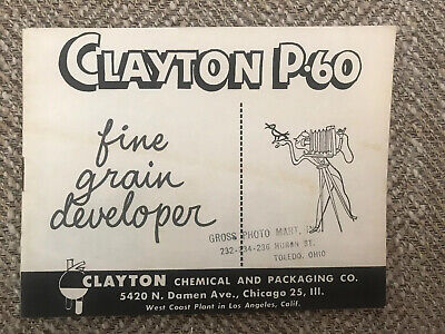 Vintage Pamphlet CLAYTON CHEMICAL AND PACKAGING CO. Chicago, Ill