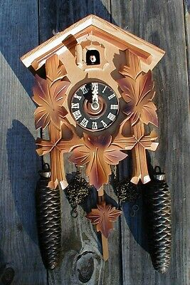 "Vintage/Old U S Zone Germany Cuckoo Clock & Two Weights ""As Is"" For Parts/Repair"