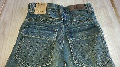 SAVE£40 New Ikks Designer rrp£59.99 boys denim jeans 6yrs BNWT adjustable waist