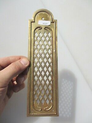 Vintage Brass Finger Plate Push Door Handle Pierced French Antique Old