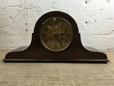 Vintage Antique Wooden Cased Nelsons Hat Inlaid Mantle Clock