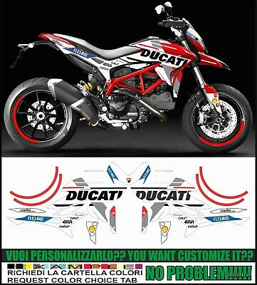kit adesivi stickers compatibili HYPERMOTARD 821 939 GP 18 TRIBUTE