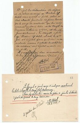 EGYPT1908-11 2 LETTERS SIGNED BY UK ENGLISH Egyptologist James Quibell 2nd SIGN.