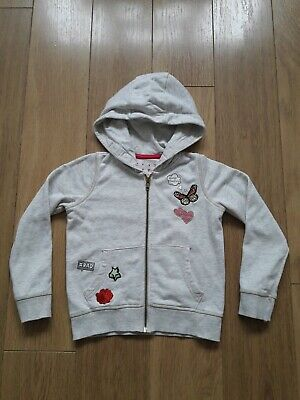 Girls Hooded Zipped Jumper Size 6 Years TU