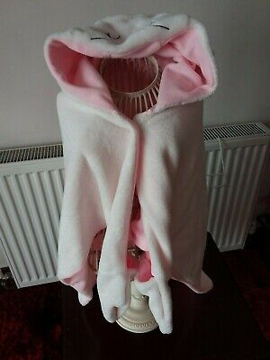 Bnwot - Matalan - Girls Pink/White Hooded Night Time Snuggle - Age 2/3 Years