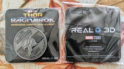 Thor Ragnarok Opening Night Fan Event Coin 2017 Marvel Studios Promo New