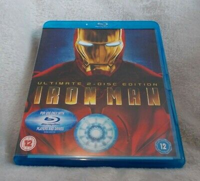 Iron Man - Ultimate Edition (Blu-ray, 2008, 2-Disc Set) Watched Once