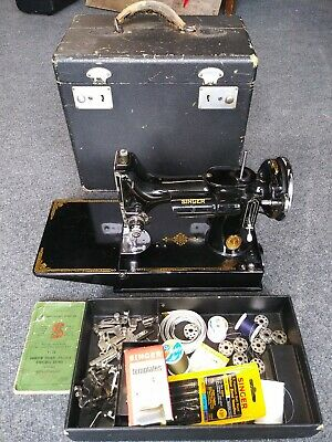 Vintage 1940 Singer Featherweight 221-1 Portable Electric Sewing Machine