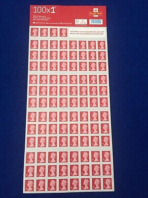 Genuine Royal Mail 1st Class Stamps (book Of 100)
