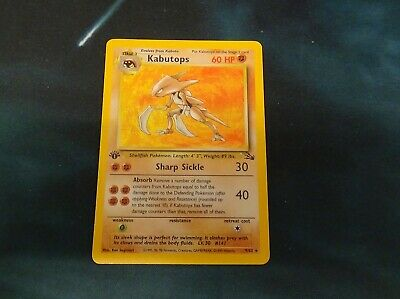 Kabutops 9/62 - Fossil 1st Edition (First Ed) - N/M Condition Pokemon TCG