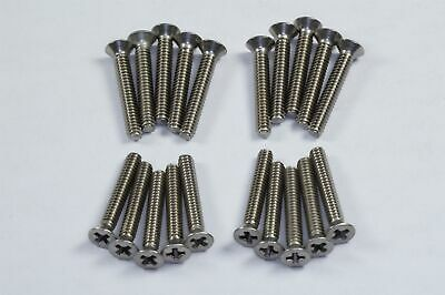 """Lot of 20 MS51959-19 Flat Head Phillips Machine Screw 4-40 x 3/4"""" Stainless NOS"""