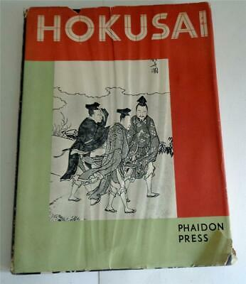 HOKUSAI JAPANESE ART WOODCUTS DRAWINGS PAINTINGS BY J HILLIER 1st 1955 HB DJ
